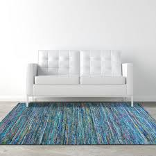 lanart silky flat weave recycled material area rug image 1 of 6