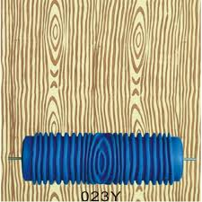 hand tools for home 5inch rubber wall painting roller wood grain pattern roller blue