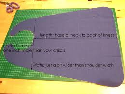 Childs Cape Pattern Impressive Pattern For Child's Cape Sewed A Yellow Circle Made By Reusing