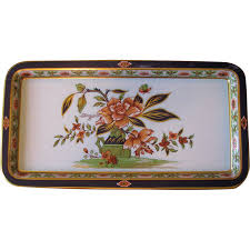 Daher Decorated Ware Tray Made In England RESERVED Vintage Daher Floral Painted Metal Serving Tray Set 1