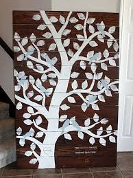 Shop for wood wall decor at bed bath & beyond. Family Tree Sign Woodwork Art Project Family Tree Wall Hanging Family Tree Clipboard Decorating