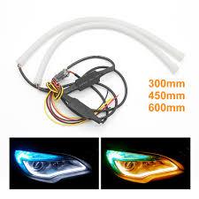 <b>2pcs</b> 30cm 45cm 60cm DRL Flexible Tube Strip Light <b>Universal Auto</b> ...