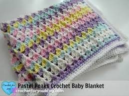 Baby Blanket Pattern Enchanting Pastel Peaks Crochet Baby Blanket Free Pattern Crochet For You
