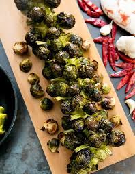 roasted y garlic brussels sprouts