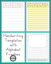 Dotted Line Template Handwriting Templates With Alphabet Guides Your Therapy Source