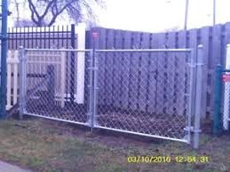 chain link fence double gate. Image Is Loading 4-039-Galvanized-Residential-Chain-Link-Double-Driveway- Chain Link Fence Double Gate U