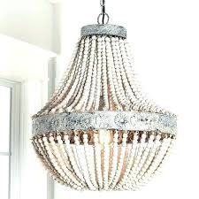 wood bead chandelier pottery barn beaded arabella chandelie