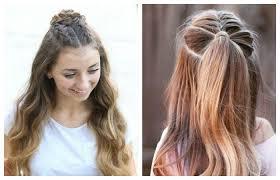 Сделать легкую прическу на разную длину волос не составит труда, ведь, чтобы собрать пряди в это самая простая прическа в школу за 5 минут. Pricheski Dlya Devochki Podrostka V Shkolu Foto Pricheski Prostye Pricheski Idei Prichesok