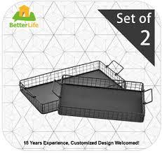 Decorative Wire Tray Black Metal Wire Nesting Serving TraysDecorative Storage Baskets 35