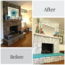 fireplace painting stone fireplace before after by paper fox rock white ideas sweet painting before after the inspired room stone fireplace painted