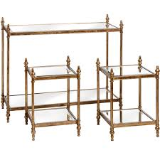 gold console table. Antique Gold Console Table With Two Side Tables