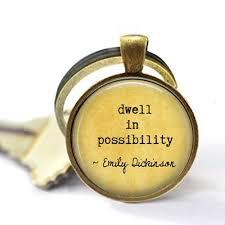 Amazoncom Stap Emily Dickinson Quote Jewelry Dwell In