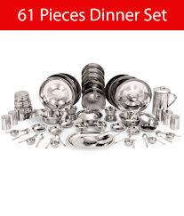 Kitchen Pro <b>Stainless Steel Dinner Set</b> - 61 Pcs: Buy Online at Best ...