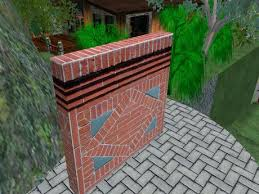 decorative brick wall intense ornamental red ornate brick wall decorative brick wall toppers