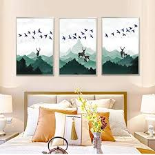 Amazon North King Oil Painting Art Decorative Spray Painting Unique Wall Painting Designs For Bedroom Minimalist