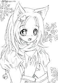 coloring pages for girl tween coloring pages teenage girl coloring pages girls coloring page anime cat