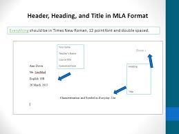 Literary Analysis Format And Examples Header Heading And Title In