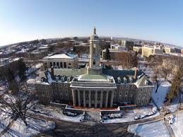 penn state university park winter tour from above