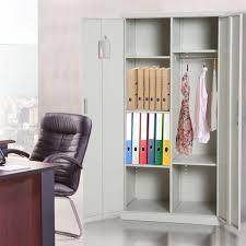 homcom 71 steel storage cabinet with adjule shelves corner cabinet laundry room cabinet sliding bookshelf aosom com