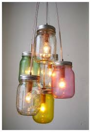 decoration: Comely Multicolored Glass Bottle Element To Decorated Mason  Jars With Hanging Desaign And Small