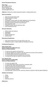 Dental Receptionist Resume Objective essays on fast food nation expository essay prompts 100th grade 20