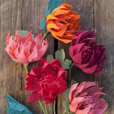 Tissue Paper Flower Ideas Crepe Paper Mums How To Make Paper Flowers For Fall