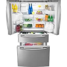 Kitchen Appliance Shop Shop Samsung 28 Cu Ft 4 Door French Door Refrigerator With Single