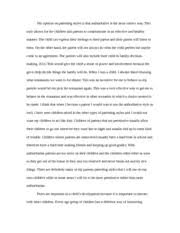 authoritative parenting style essay my opinion on parenting authoritative parenting style essay my opinion on parenting styles is that authoritative is the most correct way this style allows for the children