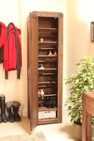 strathmore solid walnut furniture shoe cupboard cabinet. Strathmore Solid Walnut Furniture Shoe Cupboard Cabinet Tall Hallway Storage EBay