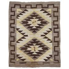 antique navajo rug fine oriental rug gray soft yellow brown ivory for