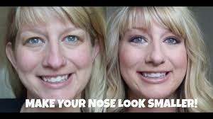 how to make a big nose look smaller tips tricks and contouring tutorial