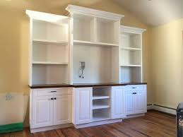 Base Cabinets For Desk Jacobswoodcraftcom Built In Wall Units