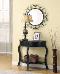 entryway table with mirror. Black Foyer Table And Mirror Vignette Lamp Picture Frame Basket Underneath Spray Nex On Entryway With