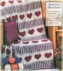 Free Crochet Afghan Patterns Enchanting American Heart Crochet Afghan Pattern Free Crochet Blanket Patterns