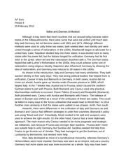 italian and german unification essay ap euro period  italian and german unification essay ap euro period 4 29 2012 italian and german unification although it seem that most countries that