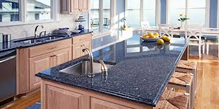 get an amazing kitchen with blue granite countertops