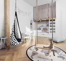 Kids Room: Black Kids Bedroom With Swing Furniture - Kids Swing
