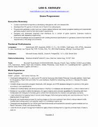 Game Developer Sample Resume Cruise Line Security Officer Cover Letter