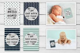 One Month Old Baby Milestone Baby Milestone Cards Mint Black Grey 16 Cards Baby Birth Beyond