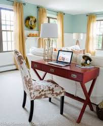 office desk in living room. Fall Decorating Ideas Featuring A DIY Office Workstation In Our Family Room + Gorgeous Homegoods Lamp Desk Living O