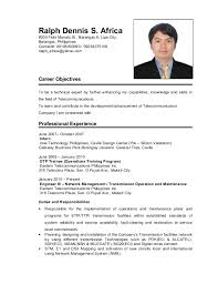 ... Ralph Africa Resume April 2015 Resume Format For Students Philippines  ...