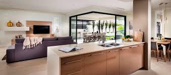 open home design. malibu single storey display home open plan living design