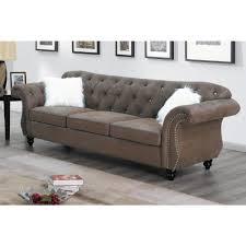 dark coffee faux leather 4 seater sofa