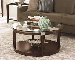 coffee table interesting round glass coffee table design ideas