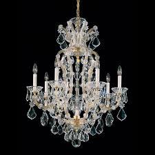 lighting wonderful maria theresa chandelier 9 schonbek 8 light gold maria theresa chandelier for