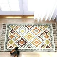trendy color block area rug from 2 woven accent threshold tar tufted rugs
