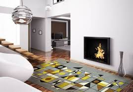 eye catching mid century rug for your living spaces