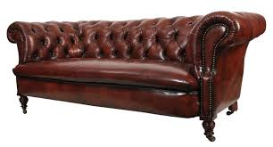 genuine victorian antique leather chesterfield sofa