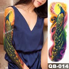 большие татуировки на руку японская гейша змея водонепроницаемый временные