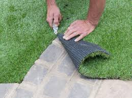 artificial turf yard. Cut Turf Once Placed Correctly Artificial Yard S